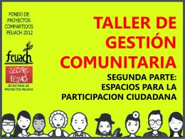 espacios para la participacion ciudadana ciudadanos y ciudadanía.