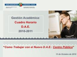 Como Trabajar con el DAE 2010 (Centro Público)