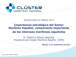 importancia estratégica del sector marítimo español