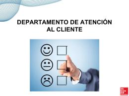 Presentación sobre el departamento de atención al cliente