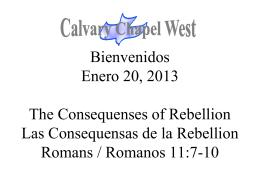Romanos 11:8 - Calvary Chapel West