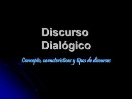 Capítulo 1 El Discurso Dialógico