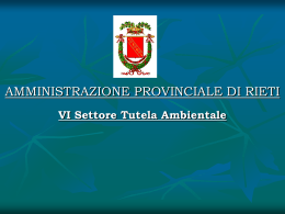 Presentazione - Provincia di Rieti