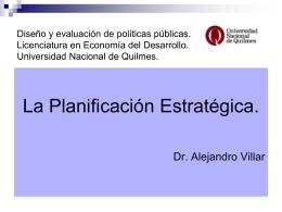 ppt Planificación estratégica - Universidad Nacional de Quilmes