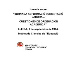 Cualificación profesional - Institut de Ciències de l`Educació