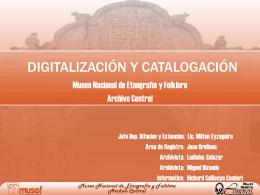 Digitalización y catalogación