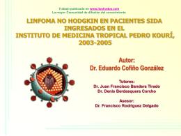 Monografias : Linfoma no hodgkin en pacientes de sida ingresados