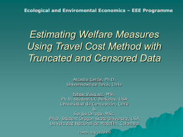Estimating Welfare Measures Using Travel Cost Method with