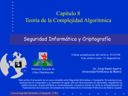 Teoría de la Complejidad Algorítmica