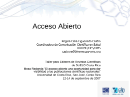 Acceso Abierto - Portal de revistas académicas de la Universidad de