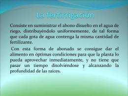 La fertirrigación - CBTa N°7,La Huerta
