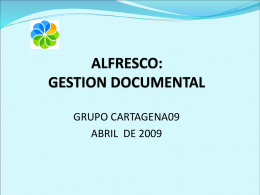 ALFRESCO: GESTION DOCUMENTAL