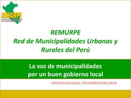 REMURPE Red de Municipalidades Urbanas y Rurales del Perú