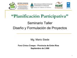 Proyecto - Municipalidad de Crespo