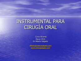 INSTRUMENTAL PARA CIRUGÍA ORAL
