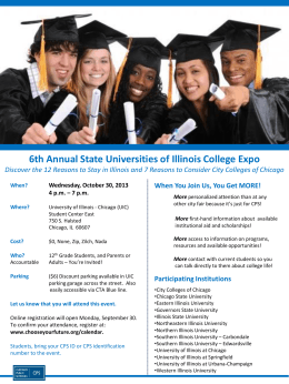 6th Annual State Universities of Illinois College Expo Discover the