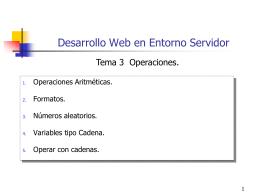 Tema 3.Operaciones.