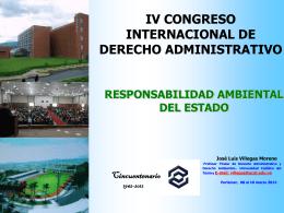 PDR. JOSE LUIS VILLEGAS. Responsabilidad Ambiental