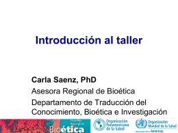 Carla Saenz. Introducción al taller
