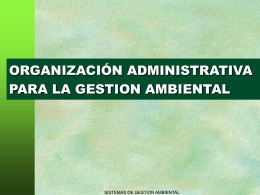 Org. de la Gestion Ambiental