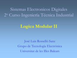 Electrónica Digital 1er Curso Ingeniería técnica Industrial