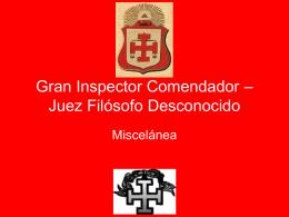 31° Grado – Gran Inspector Comendador