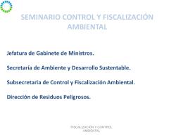 Miguel Fiat - Secretaría de Ambiente y Desarrollo Sustentable