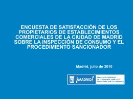 Inspección Comercios - Ayuntamiento de Madrid