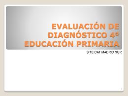 EVALUACIÓN DE DIAGNÓSTICO 4º EDUCACIÓN PRIMARIA