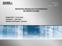 r-079.in registro respaldo fotografico de inspecciones