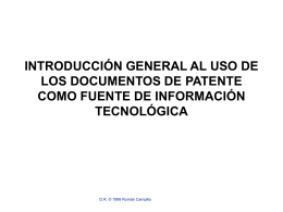 Introducci&oacuten general al uso de los documentos de Patente
