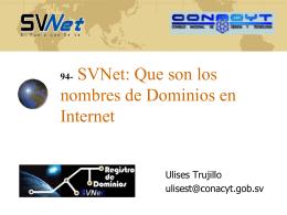 SVNet - Consejo Nacional de Ciencia y Tecnología