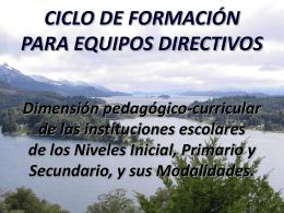 CICLO DE FORMACIÓN pres presentacion
