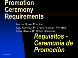 Promotion Ceremony Requirements