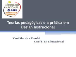 Teorias pedagógicas e a Prática em Design Instrucional por