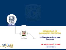 La direccion, Jorge Aranda R, 2007-1