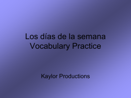 Preliminar Vocabulary Practice