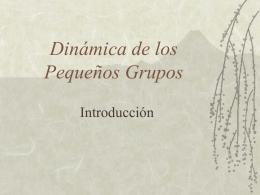 Dinámica de los Pequeños Grupos