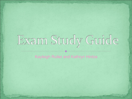 Exam Study Guide - 2012-2013CatholicSpanishExam