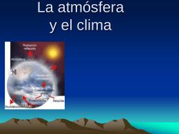 La atmósfera y el clima