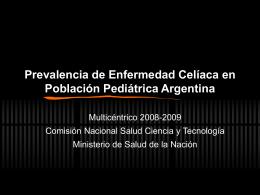Prevalencia de Enfermedad Celíaca en Población Pediátrica