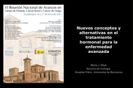 Nuevos conceptos y alternativas en el tratamiento hormonal para la