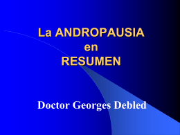 Según Georges Debled L`Andropause Cause Conséquences et