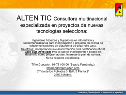ALTEN TIC Consultora multinacional especializada en