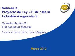 Seminario Solvencia - Superintendencia de Valores y Seguros