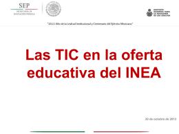Enfoque TIC INEA - Cursos y Materiales del MEVyT