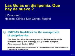 Nuevas guías EAS / ESC para el manejo de dislipemias
