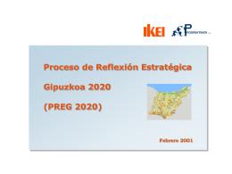 Proceso de reflexión estratégica Gipuzkoa 2020 (Presentación)