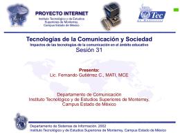 Sesión 31 - Fernando Gutiérrez :: Tecnología y Sociedad