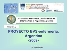 BVS Enfermería - Representación OPS/OMS en Argentina